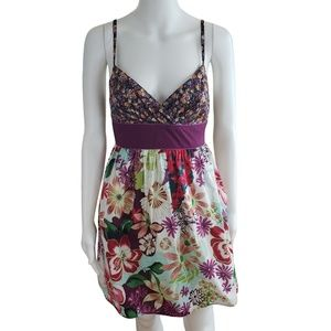 Dresses & Skirts - Retro Floral Print Spaghetti Strap Skater Dress